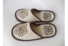 Plstěné pantofle v přírodní barvě