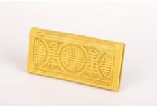 Žlutá kožená peněženka dámská