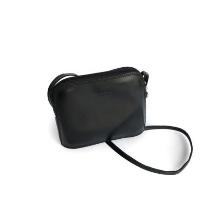 Jednoduchá kožená kabelka černá