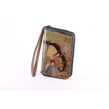 Peněženka s poutkem Sova