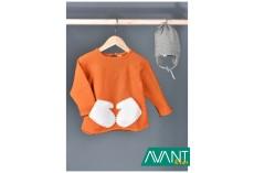 Oranžový svetřík s palčáky