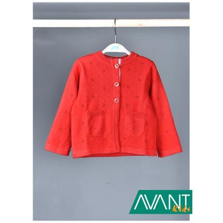 Červený vlněný svetřík