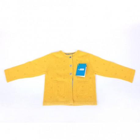 Žlutý vlněný svetřík