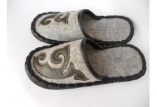 Plstěné pantofle šedé