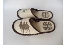 Plstěné pantofle s velbloudem