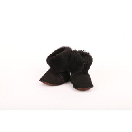 Kožené capáčky černé
