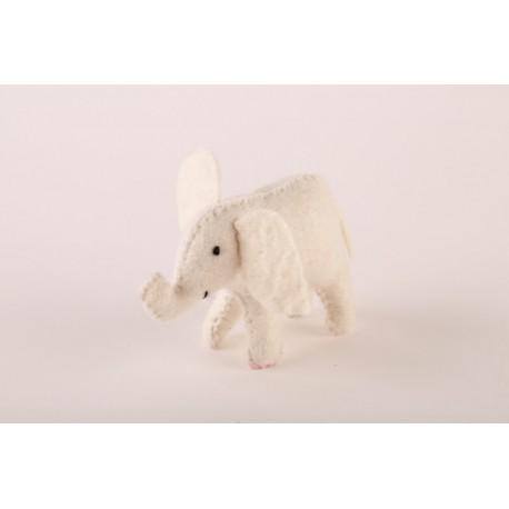 Plstěný sloneček bílý