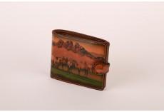 Pánská kožená peněženka Velbloudí stádo
