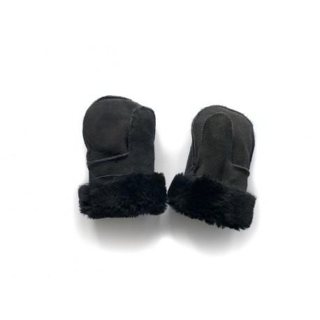 Dětské kožešinové palčáky béžové