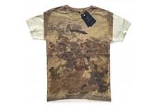 Bílé tričko s potiskem Lítý boj