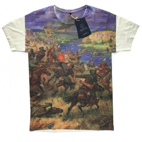 Bílé tričko s potiskem Boj u řeky