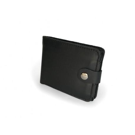 Jednoduchá pánská kožená peněženka černá