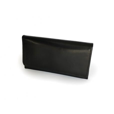 Jednoduchá kožená peněženka v černé barvě