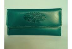 Luxusní kožená peněženka v petrolejové barvě