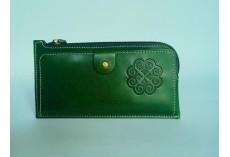 Praktická kožená peněženka zelená