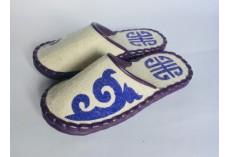 Plstěné pantofle bílé vel. 38