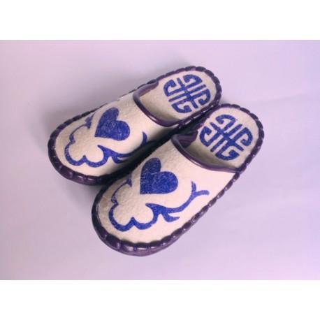 Plstěné pantofle bílé vel. 37