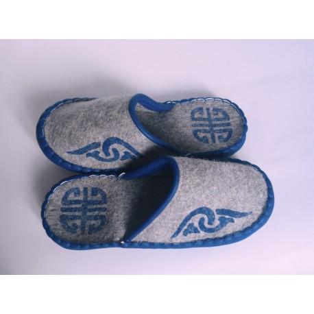 Plstěné pantofle šedé vel. 41