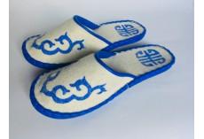Plstěné pantofle bílé vel. 43