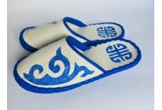 Plstěné pantofle bílé vel. 44
