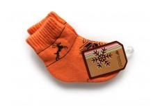 Dětské vlněné ponožky oranžové