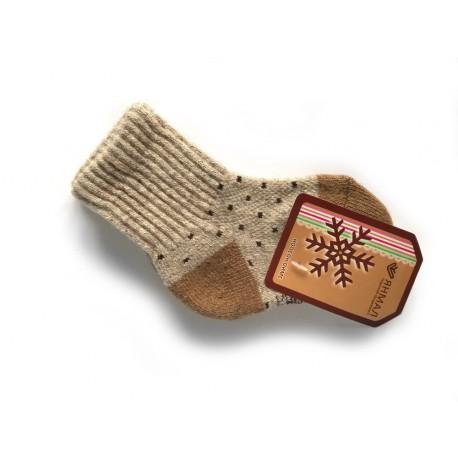 Dětské vlněné ponožky vlněné s puntíky
