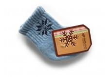 Dětské vlněné ponožky modré s vločkou