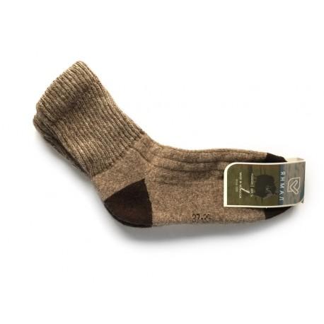 Ponožky z jačí vlny šedohnědé