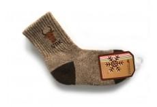 Ponožky z jačí vlny šedohnědé s obrázkem