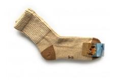 Ponožky z velbloudí vlny béžové