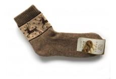 Ponožky ze 100% vlny hnědobéžové vel.40-42 ab1cd0fdcc