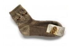 Ponožky ze 100% vlny hnědobéžové vel.37-39