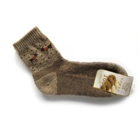 Ponožky ze 100% vlny hnědobéžové vel.37-39 8aa5b5f225