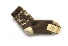 Ponožky ze 100% vlny hnědošedé vel. 35-36
