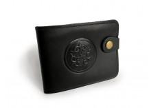 Černá pánská kožená peněženka Ornament