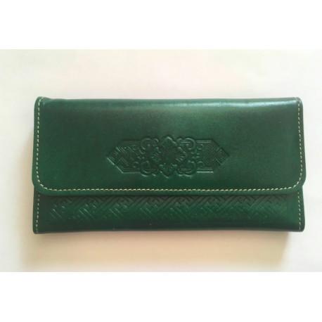 Luxusní kožená peněženka zelená