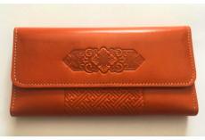 Luxusní kožená peněženka oranžová