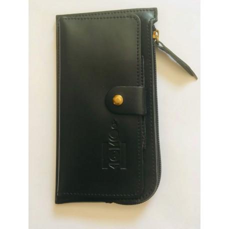 Praktická kožená peněženka černá