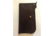Praktická kožená peněženka tmavě hnědá