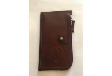 Praktická kožená peněženka hnědá