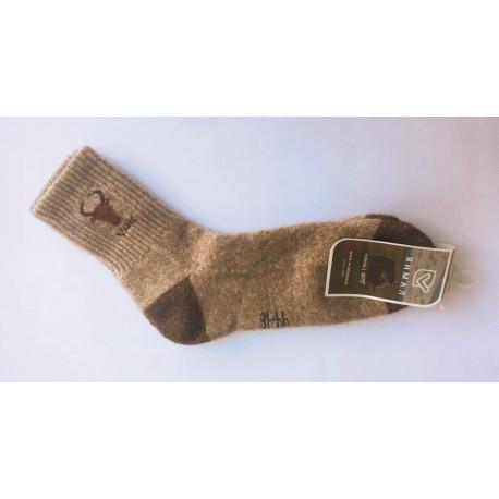 Ponožky z jačí vlny šedohnědé s obrázkem 44-46