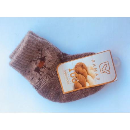 Dětské ponožky ze 100% vlny béžové