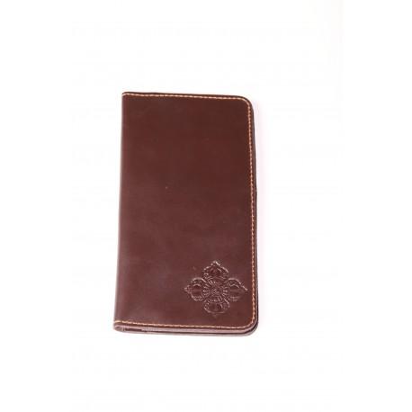 Pánská kožená peněženka tmavě hnědá