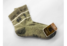 Ponožky z jačí vlny šedé s vločkou