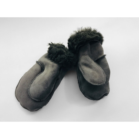 Dětské kožešinové palčáky šedé (6-7 let)