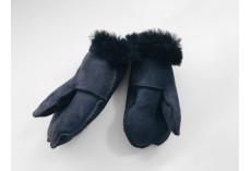 Dětské kožešinové palčáky temně šedé (3 roky)