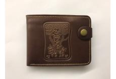 Pánská kožená peněženka s raženými zvířecími motivy