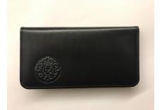 Jednoduchá kožená peněženka s raženým ornamentem černá